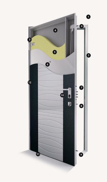 Di bi porte blindate fabulous bi porta duingresso - Montaggio porta battente ...