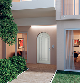 Security doors Opentech arched door