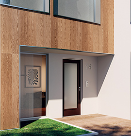 Security doors Opentech with glass insert