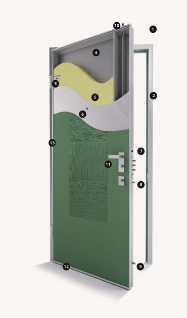 Porte blindate poker 2 dibi - Guarnizione porta blindata ...